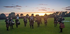 Bolton Caledonia Pipe Band (PaulEBennett) Tags: caledoniapipeband bolton sunset blackrod pipers bagpipes