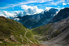 The view from Stelvio-pass 2,758m - Italy (Lior. L) Tags: stelviopass stelvio pass mountains passodelostelvio italy nature view scenery ice travel hiking hike trekking