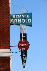 Remmie Arnold Ball Point Pens (jschumacher) Tags: virginia petersburg petersburgvirginia sign neonsign