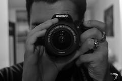 Auto Portrait (lucasizard) Tags: noir et blanc monochrone camra canon 600d 700d objectif autoportrait photographe oeil