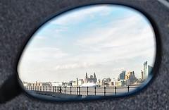 In Reflection. (Kay Bea Chisholm) Tags: threegraces seacombepromenade reflection mirror seacombeferry wallasey liverpool rivermersey cruiseship marcopolo