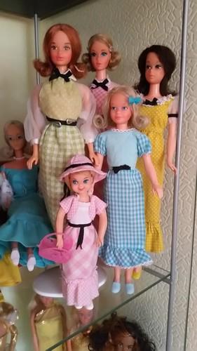 stable quality huge inventory newest collection Quick Curl Barbie, Kelley, Francie, Skipper und Tutti von ...