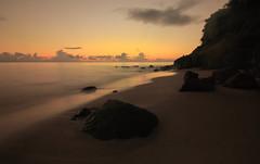 sunset on the beach (cyril mazarin) Tags: sunset beach martinique caraibes caribbean sea ocean rock sand wave sky canon 70d 1018