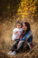 _DSC0119 (Ina K) Tags: autumn child mother nature orange colorful woman motheranddaughter