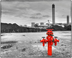 Fire hydrant .. (Alan Burkwood) Tags: drax power station fire hydrant colourpop