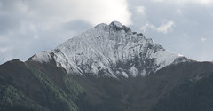 Peak (PBucket) Tags: peak mountain top snow snowy day cold green mighty austria zell am see triangle shape landscape