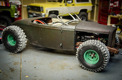 Dirt on the tires (Strangely Different) Tags: rceveryday rc4wd ratrod rat hot rod custom kustom rc radiocontrolled crawler scale tinytrucks roadster 32 ford modela