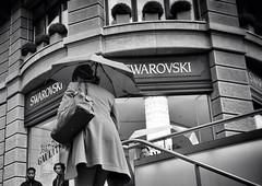 SWAROVSKI (Thomas8047) Tags: streetart zurich zrich schweiz switzerland ch monochrome streetpix onthestreets nikon swarovski rain regen bw street strassenfotografie urban blackandwithe streetartstreetlife zrigrafien thomas8047 iamnikon city streetphoto schwarzundweiss snapseed flickr d300s 2016 herbst autumn stadtansichten stadtzrich streetphotography blancoynegro hofmanntmecom candid umbrella regenschirm strasse people passanten menschen bahnhofstrasse zri zrichstreets 175528 fineartstreetphotography urbanarte photography