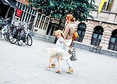 Belgian Ballerina (kirstiecat) Tags: belgium belgian ballerina girl child street canon europe antwerp antwerpen moment parent daughter