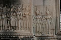 Devatas in Inner Gallery of Angkor Wat No.4 (meg williams2009) Tags: cambodia siemreap khmerart basrelief stonesculpture temple angkorwat stonesculptures devatas unescoworldheritage