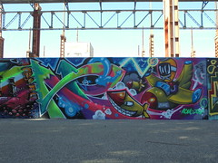 156 (en-ri) Tags: atomo zone 16 2016 verde missile arrow aereo torino wall muro graffiti writing parco dora bujo