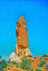 Dark Angel (Rock Water) Tags: arch phallus tower phallic orange darkangel utah archesnationalpark