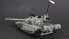 T-90 Rear (Tomcat Bobcat) Tags: light urban modern t tank lego russia main union battle t90 soviet medium combat russian heavy 90 warfare brickarms