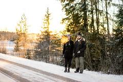 Brothers (Julia Lundin) Tags: winter sunset sun snow cold zeiss evening vinter sweden sony 55mm sverige fullframe 18 sn a7