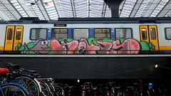 Graffiti (oerendhard1) Tags: urban streetart art train graffiti rotterdam track rail vandalism paintedtrain hotus treingraffiti
