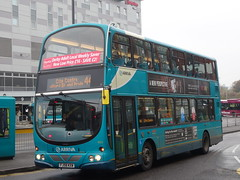 Arriva Midlands Volvo B9 Wright Eclipse Gemini (4222) FJ58 KXW (East Midlands Transport Photography) Tags: bus station eclipse volvo derbyshire wright gemini derby midlands arriva b9 4222 fj58kxw