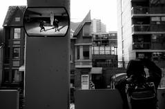 participant.as.observer (jonathancastellino) Tags: above street friends house toronto reflection mirror downtown parkinggarage figure half behind stpatrick figures parkingarcade