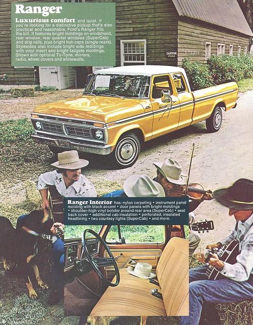 ford truck ads advertising ranger pickup f100 1977
