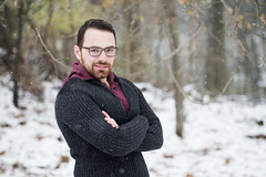 Fadi (Haddadios) Tags: winter portrait snow fall ed nikon focus university photoshoot 85mm ii session manual nikkor vr afs mcmaster d800 70200mm f2d f28g