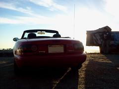 Roadside / Grizzly Peak Blvd (Mr Pika) Tags: convertible mazda miata mx5 roadster eunos redconvertible redsportscar