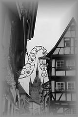 Feyerabend (tucsontec) Tags: old city eos blackwhite bad altstadt fachwerk 600d schwarzweis wimpfen