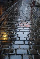 Wet cobbles in Leeds (Eeee Bi Gum) Tags: leeds westyorkshire