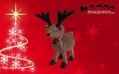 Reindeer mod. 2 Origami 3d (Samuel Sfa87) Tags: christmas xmas natal reindeer origami handmade crafts craft sfa block natale artisan reindeers renne papercraft christma renna arteempapel blockfolding origami3d sfaorigami sfa87 arteconlacarta