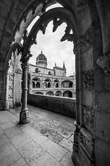 Mosteiro dos Jerónimos (Neta Bartal) Tags: blackandwhite bw portugal contrast high lisbon monastery dos textured detailed mosteiro jerónimos nikond5000 netabartal