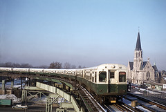 """CTA 6000s, Englewood/Howard """"A"""", Wentworth Station, Chicago, 12/14/1972 (railfan 44) Tags: chicago cta wentworth transit rapid englewood"""