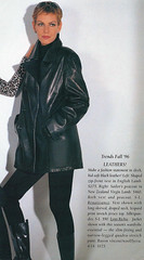 1996 (2) (cuirbouilli2) Tags: woman leather fashion scans coat jacket 1990s