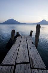 atitlan pier (eb78) Tags: latinamerica landscape volcano guatemala centralamerica panajachel lakeatitlan