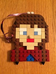 Anna from Frozen (brickgirls_gretchen) Tags: christmas anna holiday frozen lego decoration disney ornament
