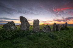 Echoes Through The Ages (Gareth Wray Photography - Thanks = 5 Million Hits) Tags: county blue ireland sunset red summer vacation sky irish sun tourism monument field rock stone set standing circle lens landscape photography star countryside site ancient nikon worship rocks day photographer angle cloudy dusk stones side famous horizon country wide scenic landmark visit tourist eire historic clear national fox trust granite fields mystical hd druid colourful nikkor monuments gareth hdr donegal attraction pagan druids mythical tyrone wray beltany raphoe strabane 1024mm d5200 hdfox