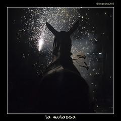 La Mulassa (Ferranet) Tags: barcelona nightphotography silhouette night canon fire noche traditions nocturna catalunya silueta fuego ef50mmf18ii nit correfoc foc tradiciones tradicions fotografianocturna 60d bstiesdefoc