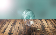 Bubble (Dennis_Shinpaugh) Tags: wood blue light color composite photoshop canon lens photography photo wooden woods nikon photographer teal photoshopped turqouise bubbles lensflare flare bubble backdrop woodfloor backround