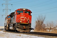 Slowly Roundin' The Bend (Andrew.Osborne) Tags: street cn illinois rail columbia canadian national western british elgin naperville eastern rd joliet 111th eje plainfield subdivision bcrail sd70m2 sd70i sd75i c408m normantown leithton