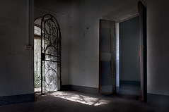 Let the sunlight in (eLe_NoiR) Tags: sunlight abandoned doors decay urbanexploration mansion decadence ue urbex elenoir