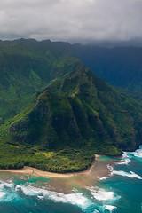 North Coast (taycirhmidi) Tags: usa hawaii coast paradise aerial helicopter kauai tropical hi lush reef gree northcoast keebeach napalicoast haenastatepark