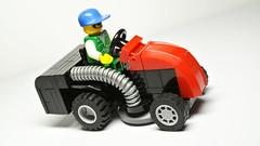 lawn mower tractor (hajdekr) Tags: city tractor grass lego small lawn vehicle easy mower minifigure moc myowncreation lawnmowerproductcategory