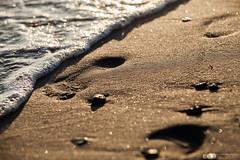 tempo. Tempo che passa. E basta.. (Alessia Franco) Tags: sea love beach canon bokeh footprint