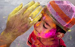 Holi Festival Kid Celebrated (StylishHDwallpapers) Tags: colors kids asian happy holidays indian muslim festivals celebration holi hindi
