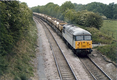 56043 Newton Harcourt (British Rail 1980s and 1990s) Tags: britishrail br class56 56043 56 train rail railway diesel loco locomotive freight railfreight 90s 1990s type5 nineties livery trains mml midlandmainline mainline liveried