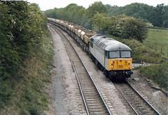 56043 Newton Harcourt (British Rail 1980s and 1990s) Tags: britishrail br class56 56043 56 train rail railway diesel loco locomotive freight railfreight 90s 1990s type5 nineties livery trains mml midlandmainline mainline liveried traction railways