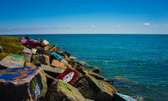 The Rocky Coast (Jordan David Photography) Tags: lake beautiful rocks bright northwestern