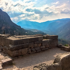 Siphanian Treasury, Delphi (Andy Hay) Tags: 2016 delfoi delphi greece lightroom phocis sanctuaryofapollo siphaniantreasury fokida thessaliastereaellada
