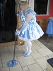 CIMG6824 (sissybarbie1066) Tags: baby satin sissy maid uniform blue mopping kitchen floor