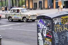 Trabant safari (Maria Eklind) Tags: building berlin architecture germany de europe outdoor potsdamerplatz sonycenter tyskland trabant trabantsafari