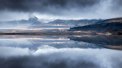 Powerful Iceland (Ornaim) Tags: blue wild summer cloud mountain lake cold nature weather june photoshop reflections dark landscape island mirror iceland nikon holidays mood hard filter lee 06 grad tamron vacations thorsmork d610 gnd