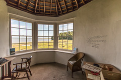 Inspiration (Keith in Exeter) Tags: inspiration gazebo laugharne carmarthenshire wales dylanthomas poet writer writing window view landscape estuary river roof chair table typewriter