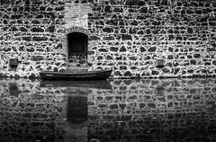 Medieval getaway (Mario Visser) Tags: old white black castle water germany boot grey nikon stones medieval rood burcht vischering mariovisser